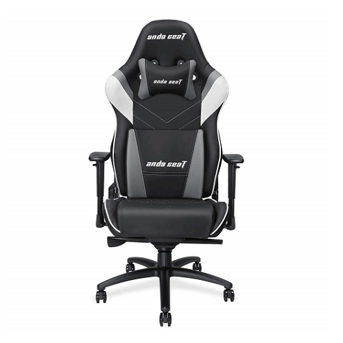 Gaming Chair AD4XL-03-BWG-PV AndaSeat Assasin King Serie BLACK&GRAY 3DArmrest 65mm Wheel PVC Leather